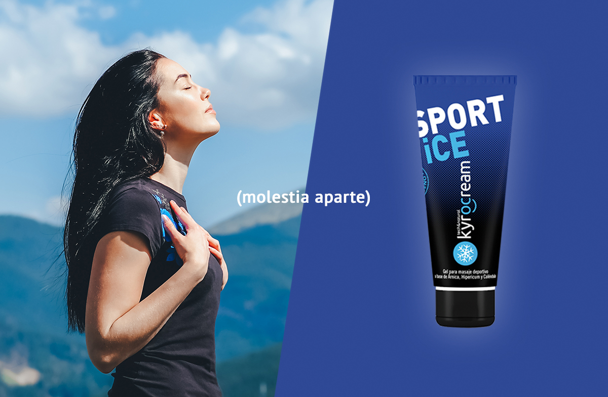 Kyrocream sport ice, the perfect ally of respiratory physiotherapy