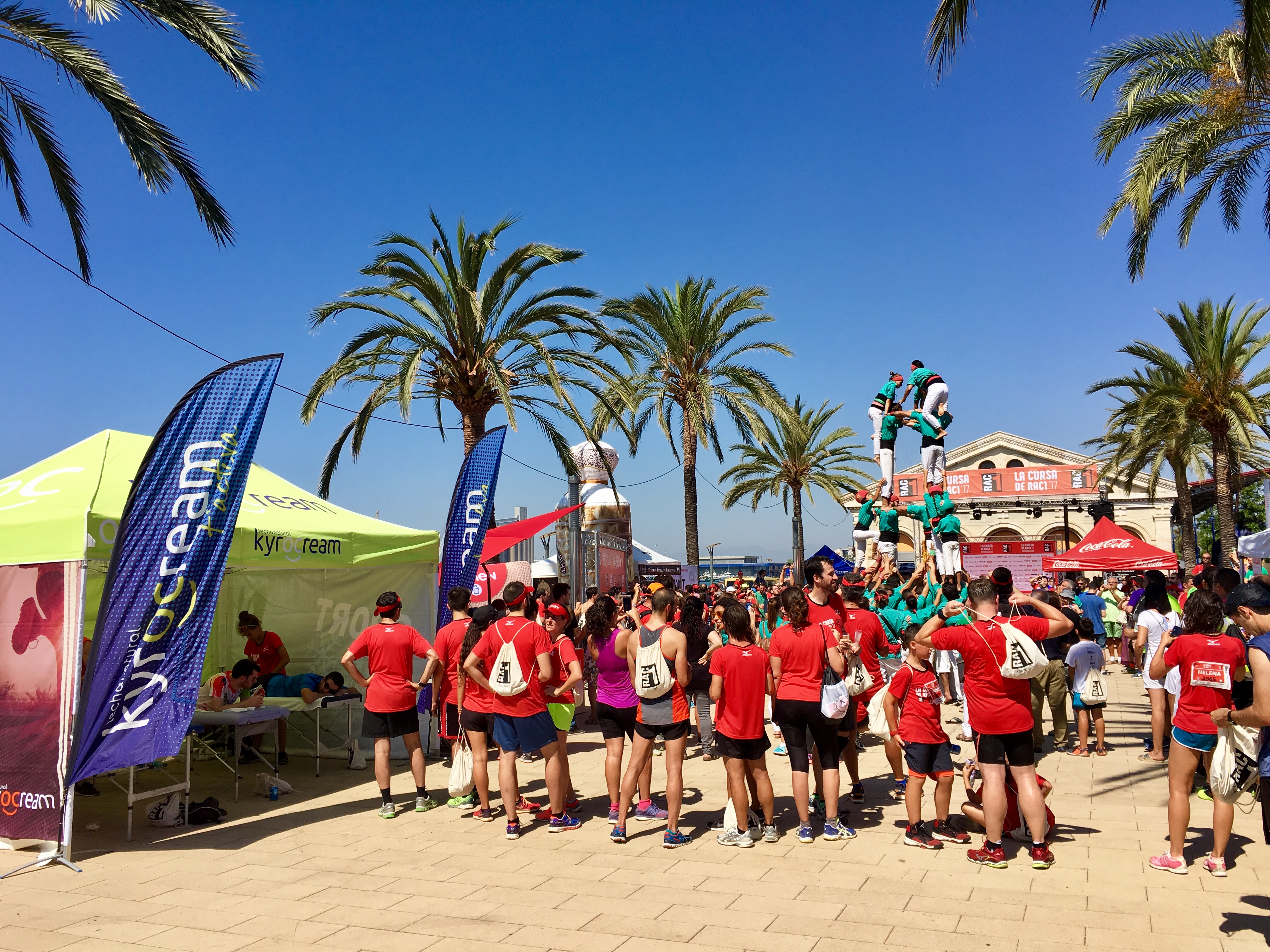 Kyrocream supports RAC1 runners in Tarragona