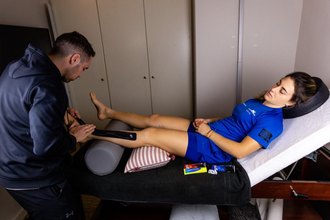 Núria Pau, la gran promesa del esquí español, se cuida con las cremas para el masaje muscular Kyrocream